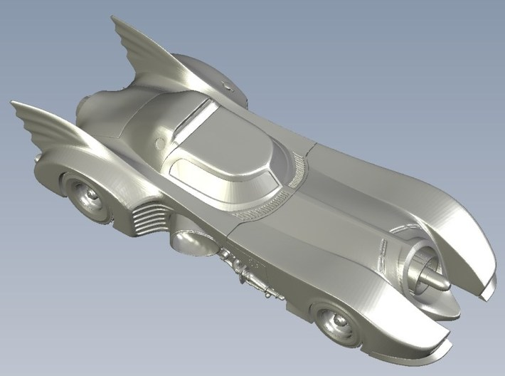 1/87 scale Batmobile from 1992 Batman Returns x 1 3d printed