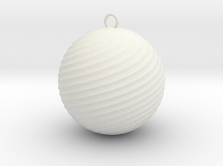 Twisted Christmas Decoration 3d printed