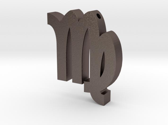 Virgo Symbol Pendant 3d printed
