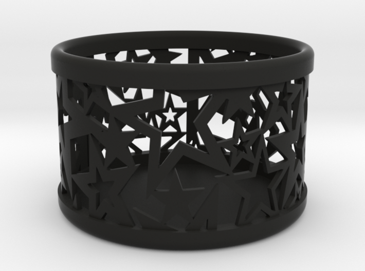 Small tealight holder with Stars  3d printed