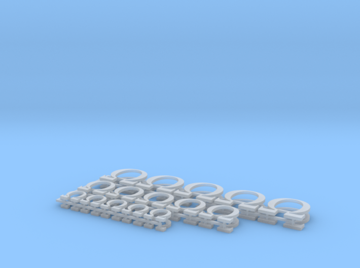 Omega icons set 3d printed