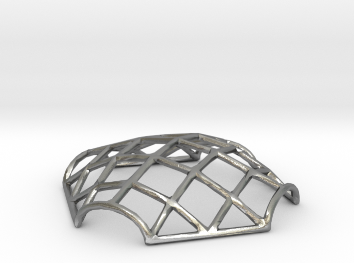 Gridshell Pendant 3d printed