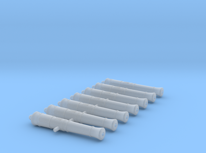 1/146 Royal Navy 24-pounder Cannons 3d printed
