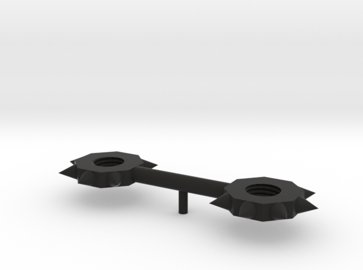 Double-Nut Mace 5mm handle 3d printed
