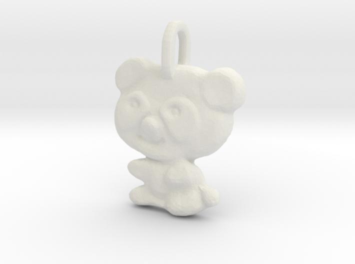 Panda Pendant 3d printed