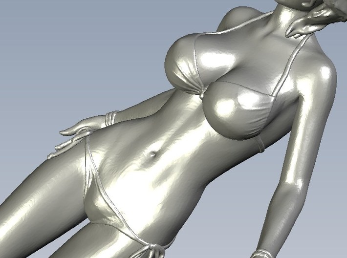 1/24 scale bikini beach girl posing figure B 3d printed