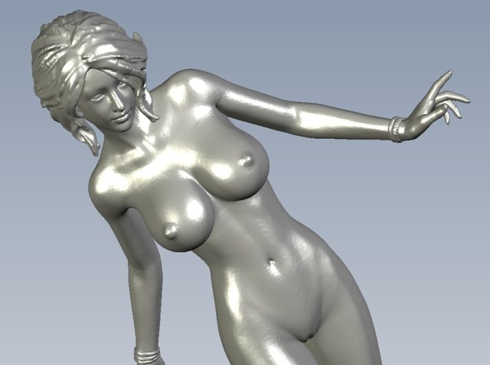 1/24 scale nude beach girl posing figure B 3d printed