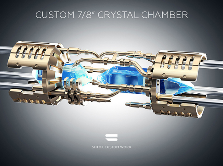 """Custom CC 7/8"""" Part V2_A 3d printed Without Custom Crystal Energy Ports"""