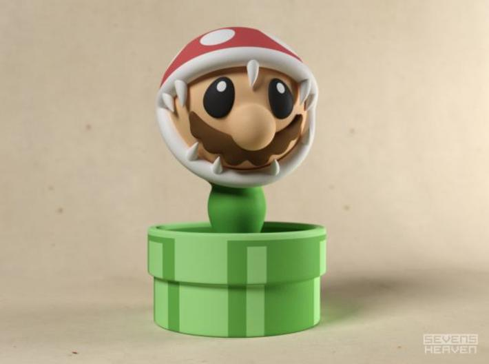 Game Over Mario 3d printed Mario eaten by Piranha plant gadget image A