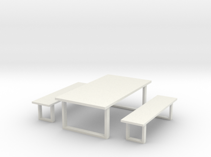 Industrial Dinning Set 1 3d printed