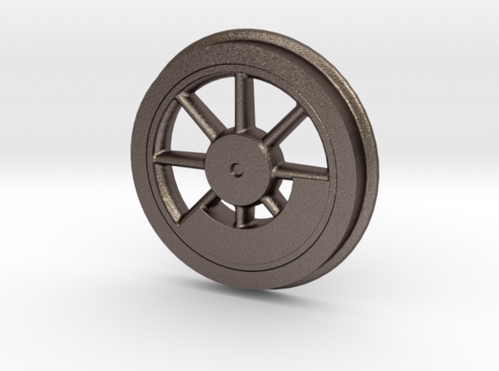 """Baldwin 33 inch Driver Center with Flanged Tire .6 3d printed Baldwin 33"""" Driver with Flanged Tire"""