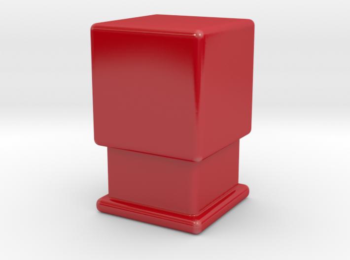 Cube on pedestal 3d printed