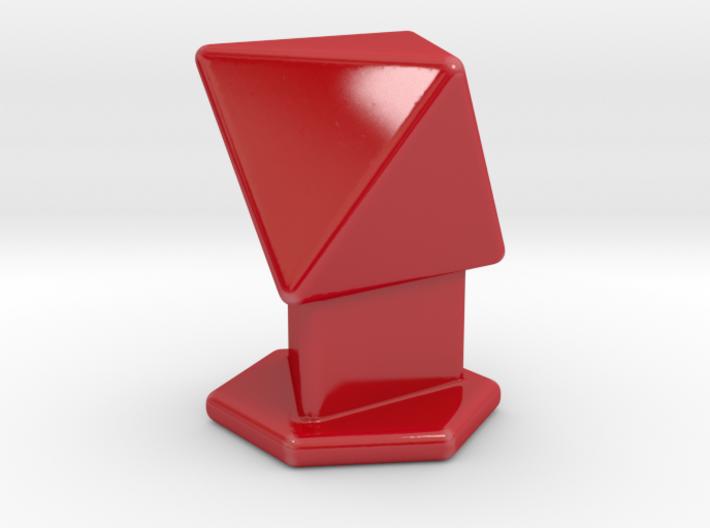 Octahedron on pedestal 3d printed
