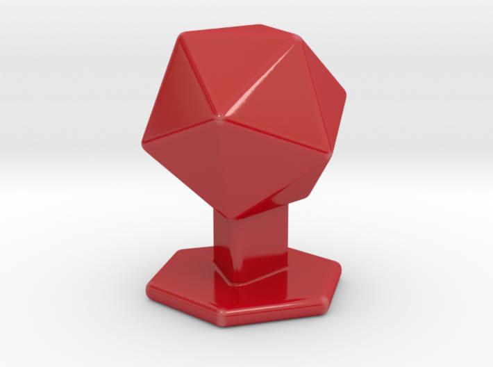 Icosahedron on pedestal 3d printed