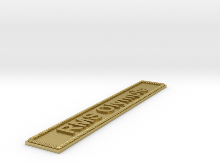 Nameplate: RMS Olympic 3d printed