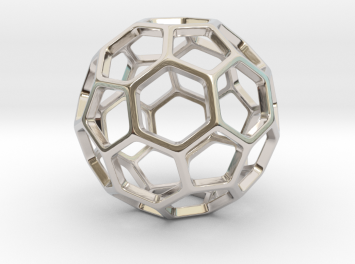 Geodesic Wire ::: Circle Pendant 3d printed