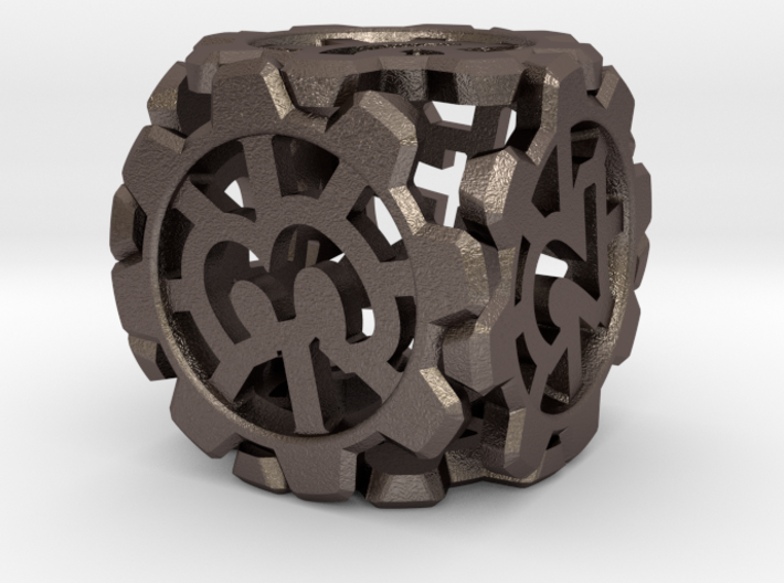 Unstable Sprocket D6 Die 3d printed