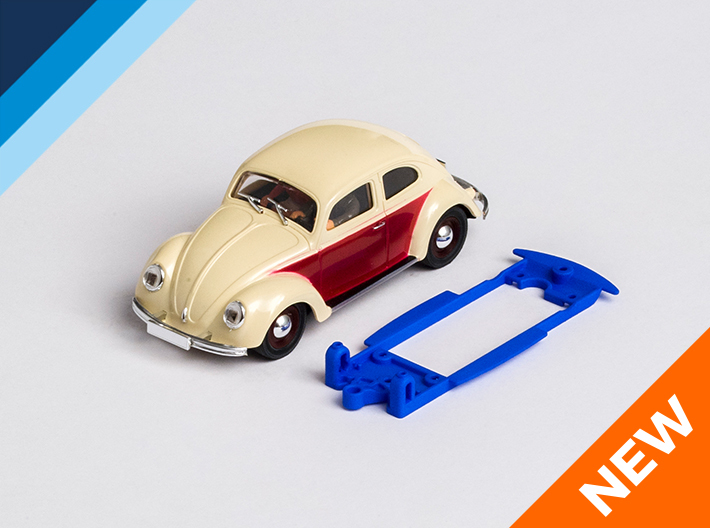 1/32 Pink-Kar VW Beetle Chassis for IL pod 3d printed Chassis compatible with Pink Kar VW Beetle body (not included)