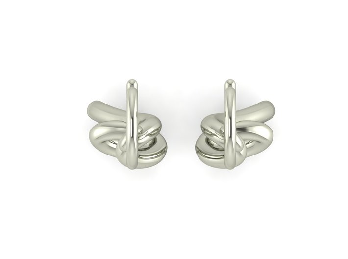Turns in life earrings JD19E round 3d printed