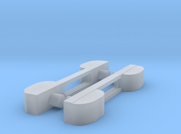 RAR wagon buffers 3d printed