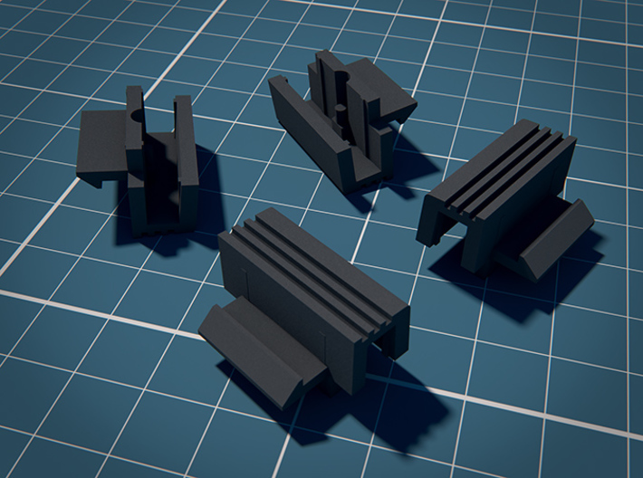 Keyboard Interlock Knobs for SX-64 3d printed 2 parts per order! These 4 parts are only for display purposes.