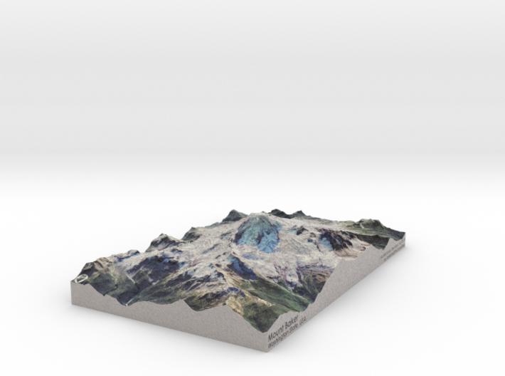 "Mount Baker Map: 6""x9"" 3d printed"