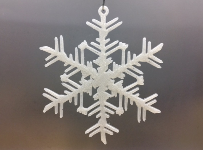 """Organic Snowflake Ornaments - Stack of 6 3d printed 3D printed FDM prototype of the """"Russia"""" snowflake ornament"""