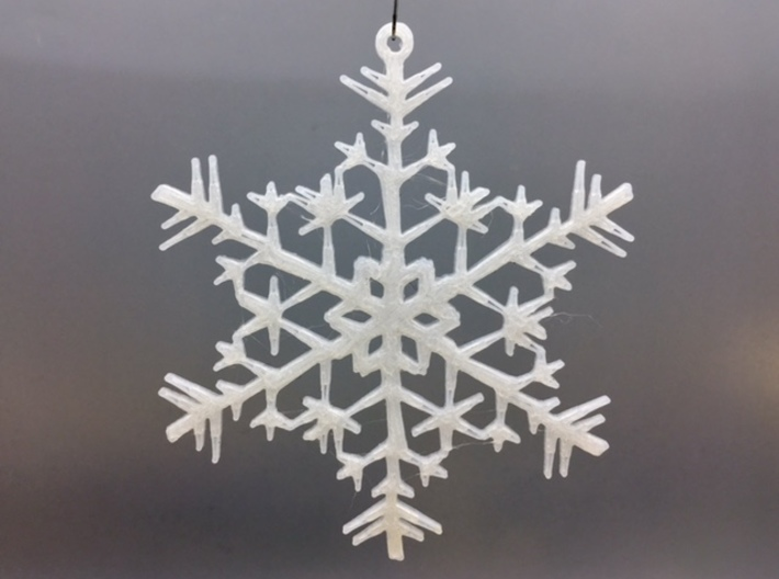 "Organic Snowflake Ornaments - Stack of 6 3d printed 3D printed FDM prototype of the ""Estonia"" ornament"