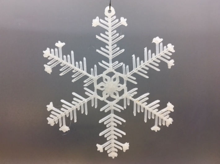 "Organic Snowflake Ornaments - Stack of 6 3d printed 3D printed FDM prototype of the ""Iceland"" ornament"