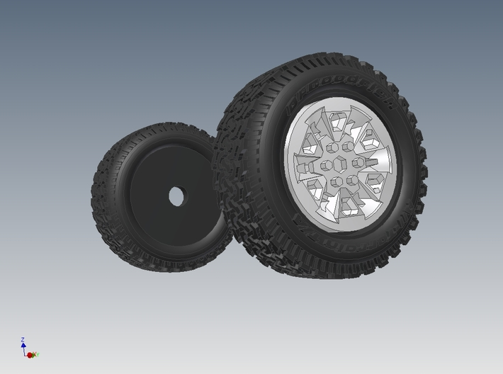 1-64 Ford Raptor Tire+Rim 3d printed