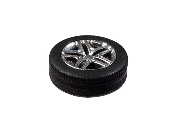 """1/87 Car tyres """"SUV"""" - wheels with profile 3d printed SUV tires with AMG rims"""