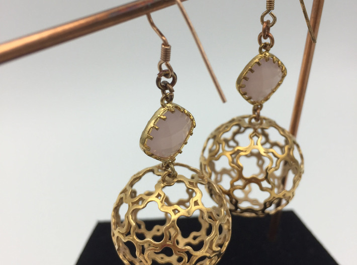 Earring set Flower Ball 28 3d printed
