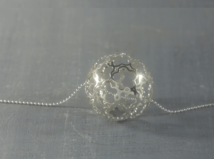 Pendant Flower Ball 28 3d printed