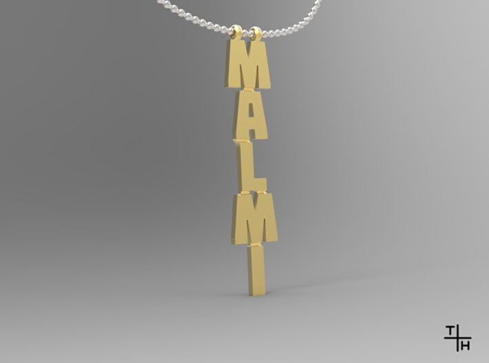Necklace: Malmi 3d printed Render with 3mm ballchain