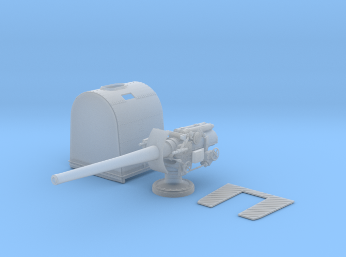 "1/96 Queen Elizabeth Class 6"" BL Mark XII Deck Gun 3d printed 1/96 Queen Elizabeth Class 6"" BL Mark XII Deck Gun"
