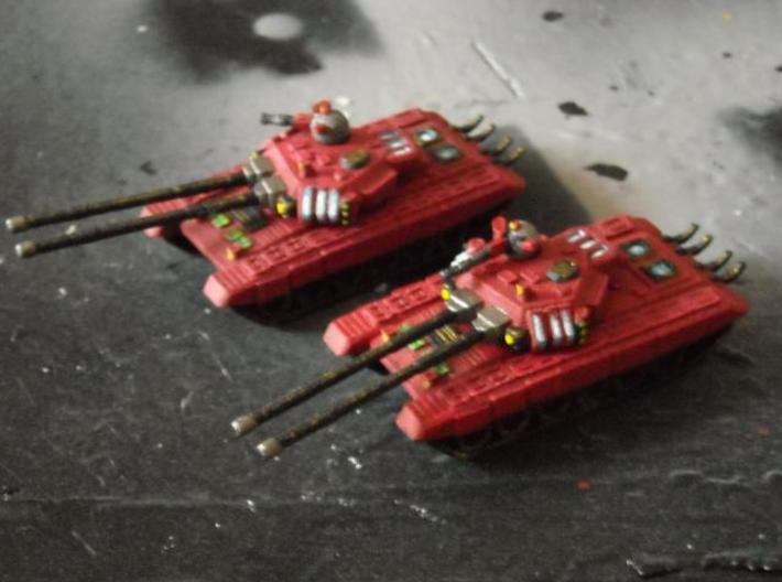 MG144-SV002A T-150 Indrik Heavy Tanks (2) 3d printed Painted model