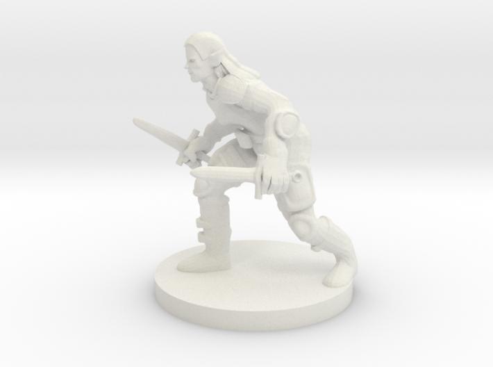 Half Elf Rogue 3d printed