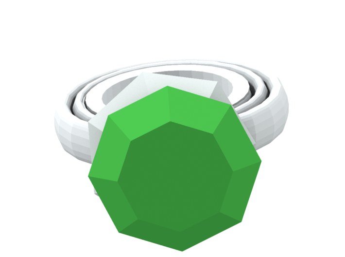 Build A Ring part 1: Gem  3d printed what the ring can look like when glued together