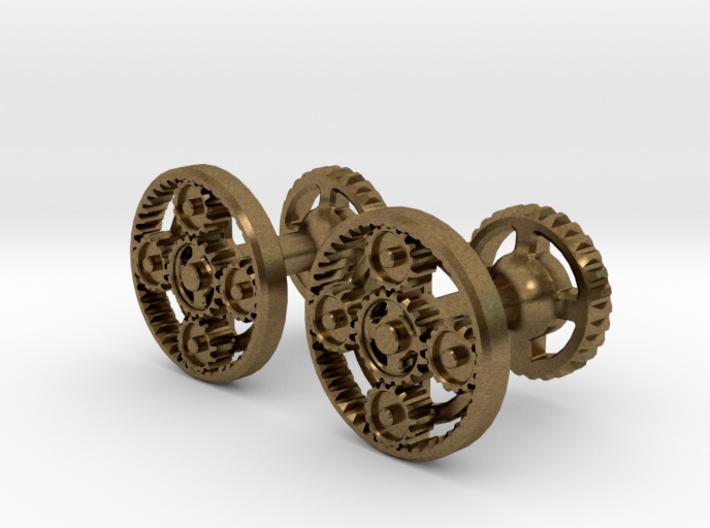 Gearcog cufflinks 3d printed