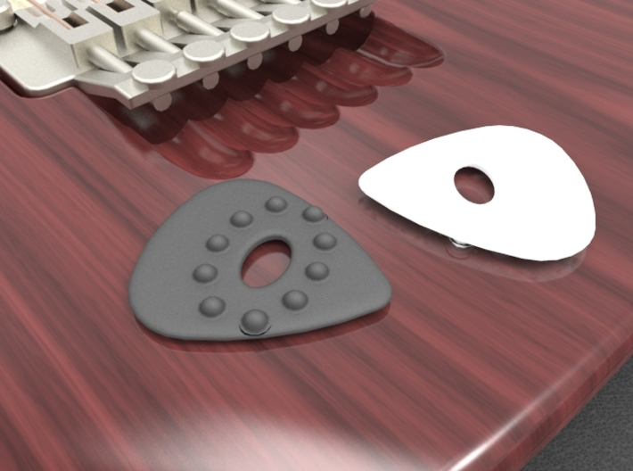Guitar Pick w/Dimples and Cutout 3d printed Single Sided Dimple pick