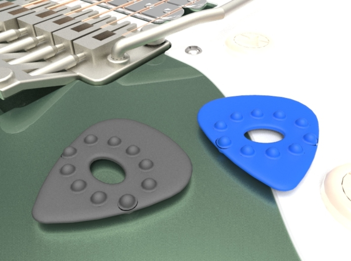 Guitar Pick w/Dimples and Cutout 3d printed Double Sided Dimple pick