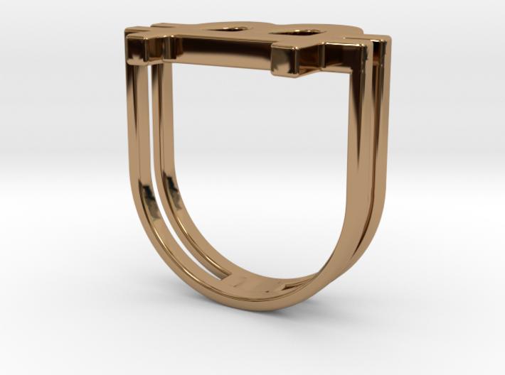 Bitcoin Ring 18 3d printed