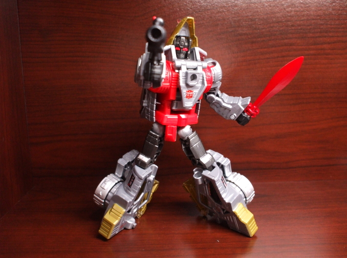 Energo Sword for PotP Slag 3d printed painted with Tamiya Gloss Red