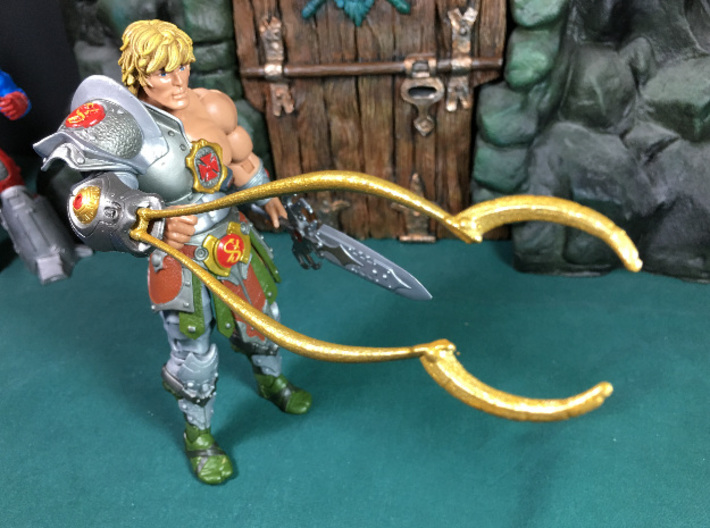 Snake Armor He-Man Clamp 3d printed Painted Gold