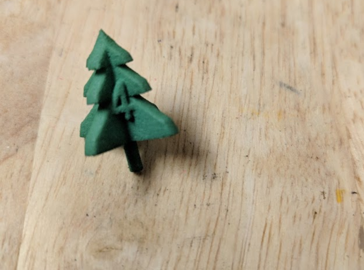 trimmed tree d4 3d printed