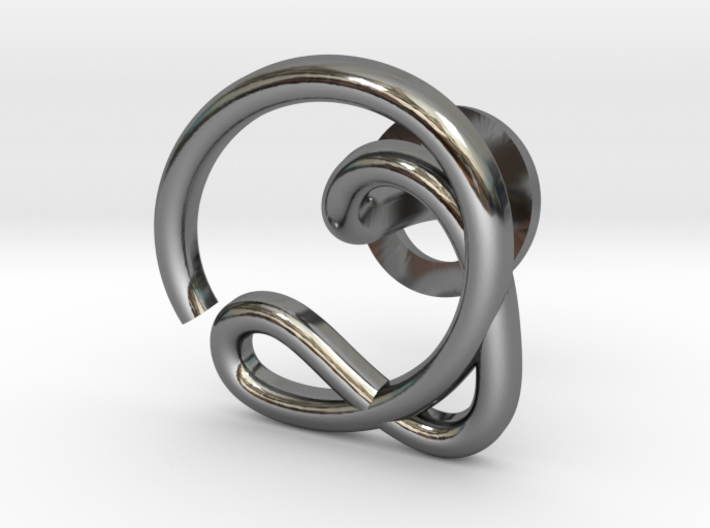 Cursive Q Cufflink 3d printed
