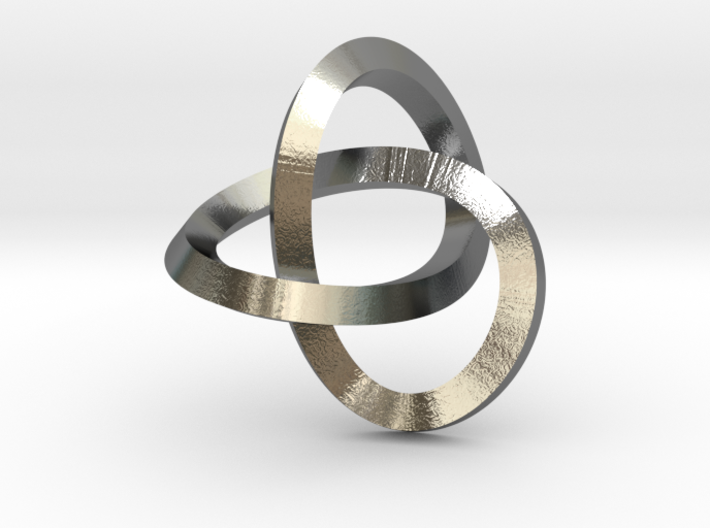 Knotted Mobius Band (small) 3d printed