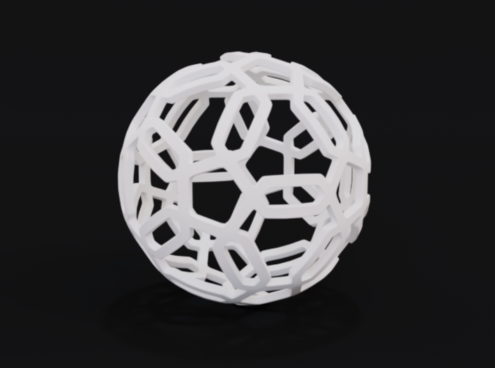 Pentagon Pattern Sphere 3d printed