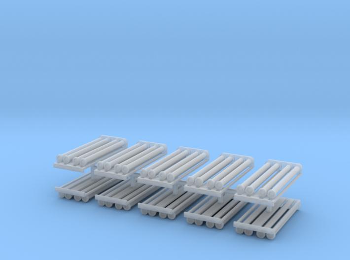 Saugschlauchsatz A 2,5m mit Rost 10erSet - 1:120 T 3d printed