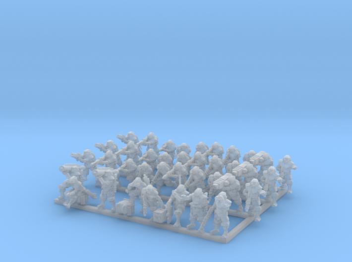 Zeus Pattern Light Infantry 1/285 38 pieces 3d printed